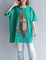 abordables -Mujer Algodón Camiseta Animal