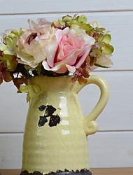 baratos -Flores artificiais 1 Ramo Casamento Rosas Flor de Mesa