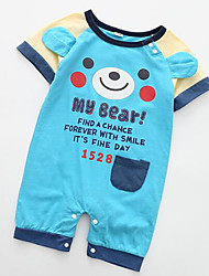 cheap -Baby Unisex Active Print / Color Block Short sleeves Romper / Cute