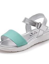 preiswerte -Mädchen Schuhe Leder Sommer Komfort Sandalen Schnalle für Gelb / Grün / Rosa