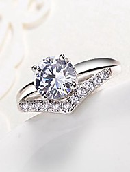 cheap -Cubic Zirconia Band Ring - Copper Snowflake Classic, Fashion Adjustable Silver For Engagement Daily
