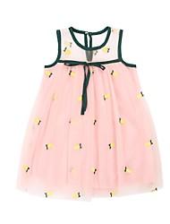 cheap -Kids Girls' Black & White Jacquard / Fruit Sleeveless Dress