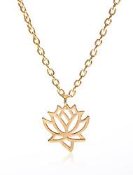 Недорогие -Ожерелья с подвесками - Цветы и растения, Цветы Простой, корейский Золотой, Черный, Серебряный 50 cm Ожерелье Назначение Подарок, Повседневные, Для вечеринок