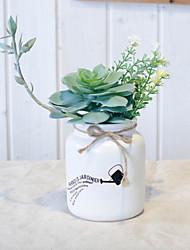 baratos -Flores artificiais 1 Ramo Rústico Plantas suculentas Flor de Mesa