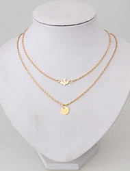 cheap -Layered / Thick Chain Chain Necklace / Layered Necklace - Bird, Peace Gold 52 cm Necklace For Daily