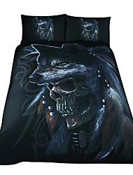 Недорогие -наборы для одеяла на Хэллоуин 3d поли / хлопок / 100% хлопок реактивная печать 3 шт.