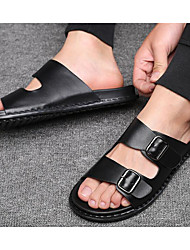 povoljno -Muškarci Cipele Sintetika, mikrofibra, PU Ljeto Udobne cipele Papuče i japanke Crn