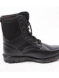 Недорогие -Жен. Обувь Кожа Наступила зима Ботильоны Ботинки На толстом каблуке Ботинки Черный