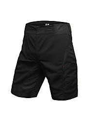 baratos -Jaggad Homens Bermudas Acolchoadas Para Ciclismo Moto Shorts / Shorts largos / Bermudas para MTB Tapete 3D, Respirável Sólido, Xadrez / Quadrados Poliéster Preto Roupa de Ciclismo