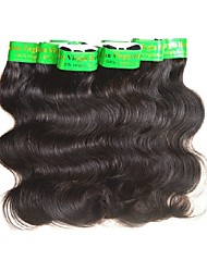 cheap -Indian Hair / Body Wave Body Wave Virgin Human Hair / Remy Human Hair Weave 8 Bundles Human Hair Weaves Extention / Sexy Lady / Hot Sale Natural Black Human Hair Extensions Women's