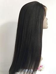 cheap -Virgin Human Hair Full Lace Wig Brazilian Hair Straight Wig Layered Haircut 130% With Baby Hair / Natural Hairline Black Women's Short / Long / Mid Length Human Hair Lace Wig