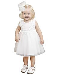 economico -Bambino Da ragazza Tinta unita Senza maniche Vestito