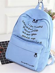 Недорогие -Жен. Мешки холст рюкзак Молнии Розовый / Бежевый / Серый