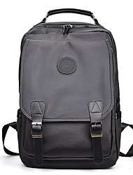 cheap -Men's Bags Nylon Backpack Buttons / Zipper Black