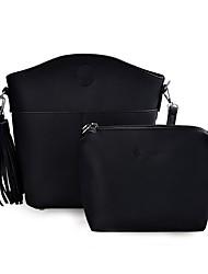 baratos -Mulheres Bolsas PU Conjuntos de saco 2 Pcs Purse Set Mocassim / Com Relevo Preto / Verde Tropa