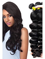 cheap -Malaysian Hair / Loose Wave Wavy Natural Color Hair Weaves / Extension / Human Hair Extensions Human Hair Weaves Soft / New Arrival / Hot