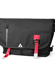 cheap -Men's Bags Nylon Shoulder Bag Zipper Black / Red black
