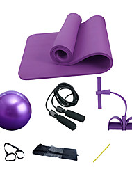 "cheap -Exercise Ball / Yoga Ball With Yoga Mat / Jump Rope / Resistance Band / Exercise Tube 4 pcs 9.84""(Approx.25cm) Diameter PVC(PolyVinyl Chloride) / NBR Kits, All in One Strength Training, Physical"