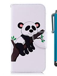 Недорогие -Кейс для Назначение Xiaomi Redmi 5 Plus / Redmi 5 Кошелек / Бумажник для карт / со стендом Чехол Панда Твердый Кожа PU для Redmi Note 5A
