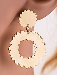 Недорогие -Жен. Серьги-кольца - пончики, Шестерня Классика, европейский Золотой / Серебряный Назначение Повседневные Офис и карьера