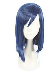 abordables -Pelucas sintéticas Recto Corte asimétrico Pelo sintético Cosplay Azul Peluca Mujer Corta Sin Tapa / Sí