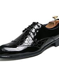 Недорогие -Муж. Искусственная кожа Лето Удобная обувь Туфли на шнуровке Контрастных цветов Белый / Черный / Вино