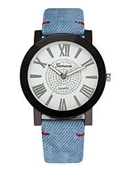 abordables -Homme Montre Habillée Chinois Chronographe / Créatif / Grand Cadran Polyuréthane Bande Luxe Bleu / Bleu Océan