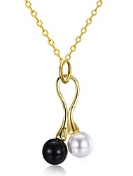 cheap -Women's Pendant Necklace  -  Pearl, 18K Gold, Freshwater Pearl Unique Design, Fashion Gold 45+5 cm Necklace For Gift, Daily