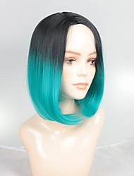 cheap -Synthetic Wig / Ombre / Highlighted Hair Straight Ombre Bob Haircut Synthetic Hair Fashionable Design / Soft / Sexy Lady Ombre Wig Women's Short Capless / Yes