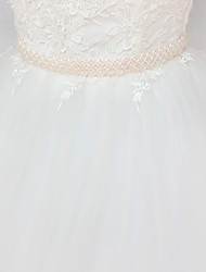 cheap -Satin / Tulle Wedding / Party / Evening Sash With Imitation Pearl Women's Sashes