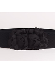 cheap -women's fabric wide belt - solid colored