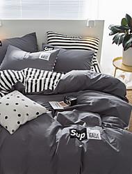Недорогие -Пододеяльник наборы Stripes / Рябь 100% хлопок Активный краситель 3 предмета