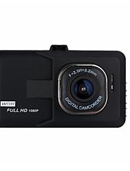 Недорогие -1080p Ночное видение Автомобильный видеорегистратор 140° Широкий угол 3 дюймовый Капюшон с Обноружение движения Нет Автомобильный рекордер