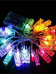 Недорогие -1,5 м Гирлянды 10 светодиоды Тёплый белый / Холодный белый / RGB Декоративная 220-240V