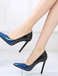 preiswerte -Damen Schuhe PU Frühling / Herbst Pumps High Heels Stöckelabsatz Spitze Zehe Rot / Blau / Mandelfarben / Party & Festivität