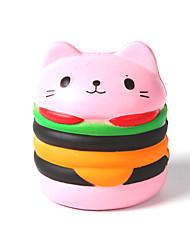 baratos -Brinquedos de Apertar / Antiestresse Gato / Hamburger O stress e ansiedade alívio / Brinquedos de descompressão Others 1pcs Crianças Todos