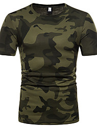 abordables -Tee-shirt Homme, camouflage Basique