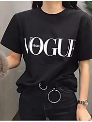 economico -T-shirt Per donna Per uscire Alfabetico