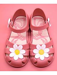 baratos -Para Meninas Sapatos PVC Verão Conforto / Plástico Sandálias para Preto / Fúcsia / Rosa claro