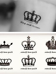 abordables -Adhesivo / Pegatina tatuaje brazo Los tatuajes temporales 10 pcs Serie romántica Artes de cuerpo