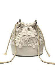 cheap -Women's Bags Canvas Tote Lace for Going out White / Black