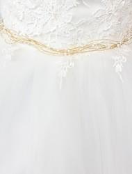 Недорогие -Сатин / тюль Свадьба / Вечеринка / ужин Кушак С Искусственный жемчуг Жен. Пояса и ленты