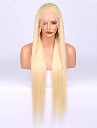 billige -Remy hår Paryk Brasiliansk hår Lige 130% Massefylde Lang Dame Blondeparykker af menneskehår