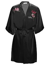 abordables -Chemises & Blouses Vêtement de nuit Femme - Imprimé, Couleur Pleine Fleur