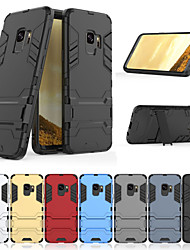 billiga -fodral Till Samsung Galaxy S9 Plus / S9 med stativ Skal Enfärgad Hårt PC för S9 / S9 Plus / S8 Plus