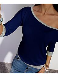 abordables -Tee-shirt Femme, Couleur Pleine - Coton Bateau