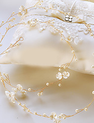 cheap -Imitation Pearl / Beads Headpiece with Crystal / Imitation Pearl 1 pc Wedding / Special Occasion Headpiece