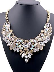 Недорогие -Жен. Кристалл Длинные ожерелья Заявление ожерелья - Дамы, европейский Белый, Красный, Синий 49 cm Ожерелье Бижутерия Назначение Для вечеринок