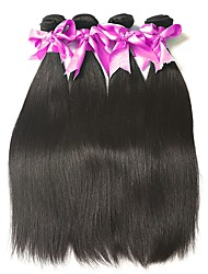 cheap -Malaysian Hair Straight Natural Color Hair Weaves / Bundle Hair / Human Hair Extensions Human Hair Weaves Soft / Hot Sale / Comfortable