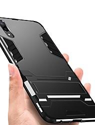 abordables -Funda Para Huawei P20 Pro P20 Antigolpes con Soporte Funda Trasera Armadura Dura TPU para Huawei P20 lite Huawei P20 Pro Huawei P20 P10